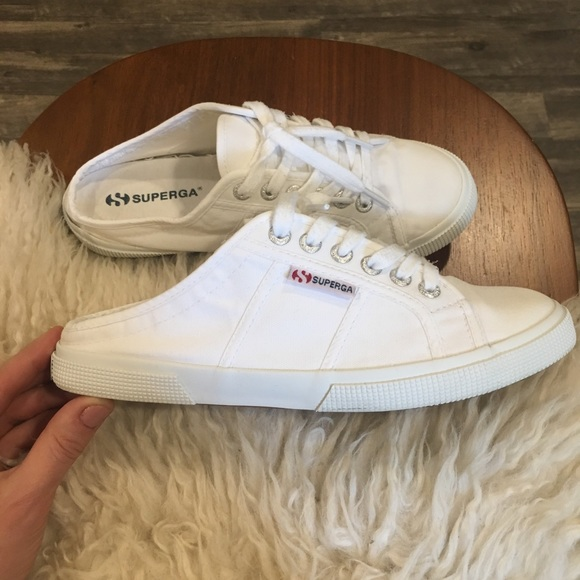 Superga Shoes | Slide Ons | Poshmark